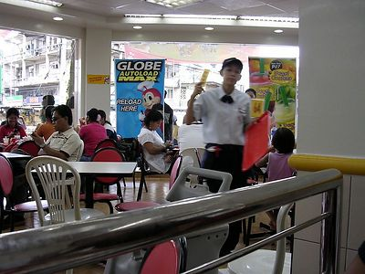 Inside Jollibee's, a fast food eatery in Iligan city