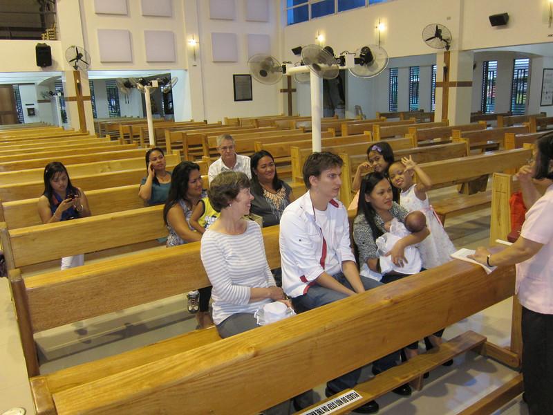 Allison's christening