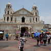 "Quiapo church, Plaza Miranda, Philippines speakers corner ala Hyde Park of London. the politicians used to say, ""can you defend that position in Plaza Miranda""?...in 1972, a bomb explosion during the Liberal Party Meeting de Avance killed several people including photojournalists."