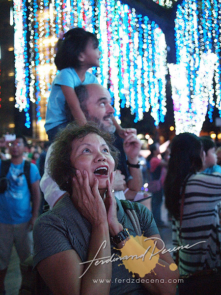 Some of my relatives filled with awe seeing the lights for the first time