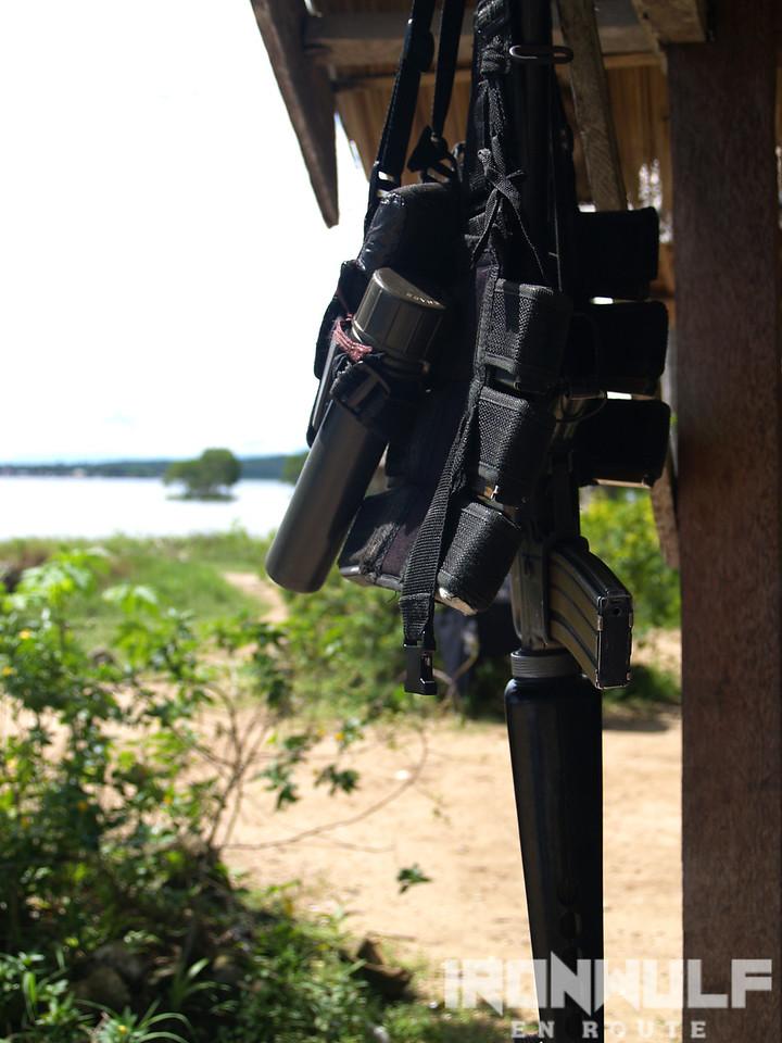 Guns and beach