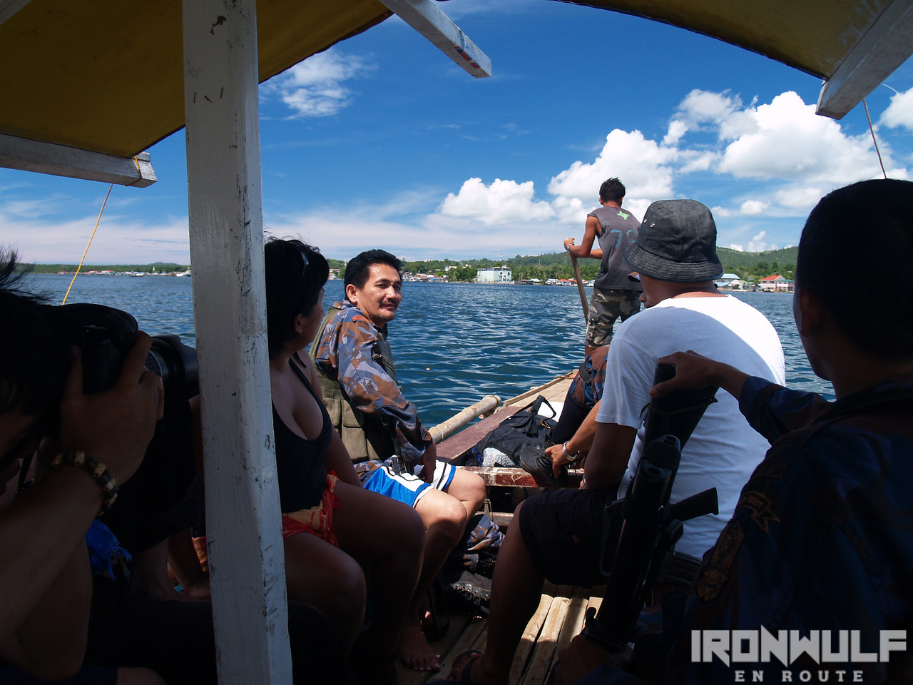 Our boat to Malamawi island