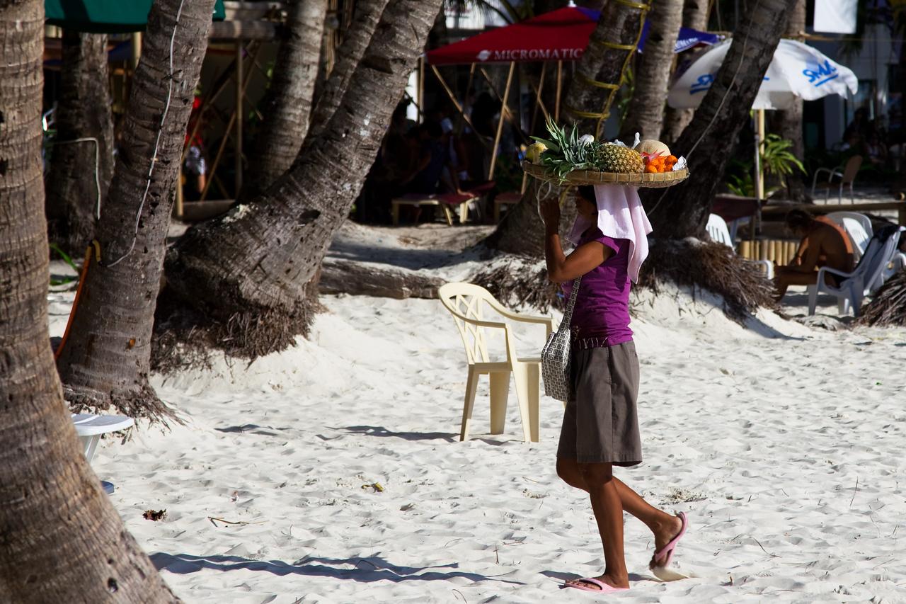 um....fruit lady on beach