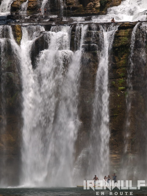 The 55-meter high falls have several layers