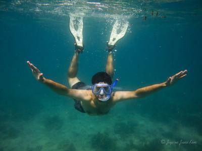 Stephen underwater