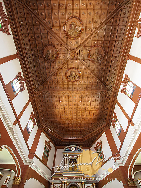 The ceiling made from Narra is still the original