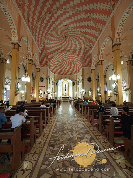 The St James interior with its unique ceiling