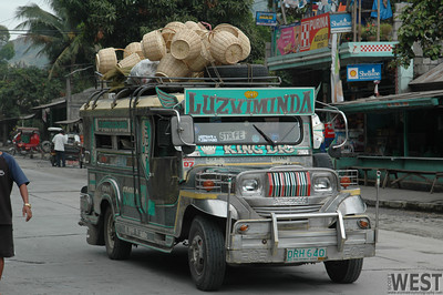A Jeepney with baskets...