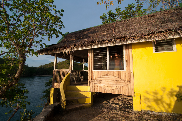 Our little wooden cottage at Baras Resort