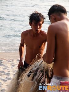 Nagsasa Fishermen tending Nets