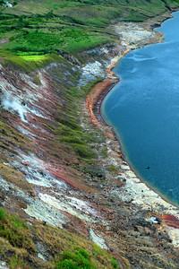 Volcanic lakeshore