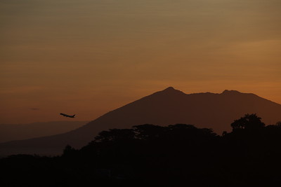 Sunset view of Mt. Arayat from Clark Field, Philippines