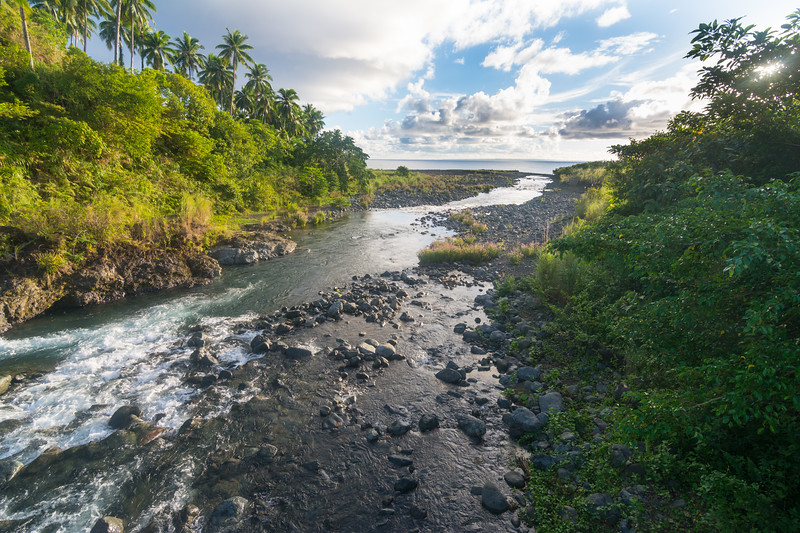 Mouth of the river at Masla village, General Nakar, Luzon, Philippines, October 2016. [Dumagat 2016-10 Pano 01-001 Luzon-Philippines]