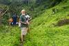 On a hike to another village with Jesuit Father Pedro Walpole of Bendum Village in Bukidnon, Mindanao, Philippines, June 2017. [Bendum 2017-06 025 Bukidnon-Philippines]