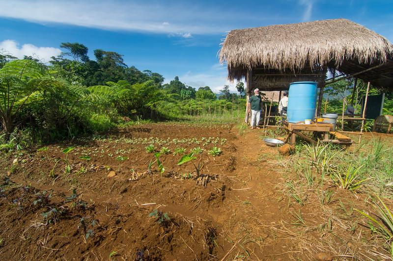 House and garden of Jesuit Father Pedro Walpole in Bendum Village in Bukidnon, Mindanao, Philippines, June 2017. [Bendum 2017-06 010 Bukidnon-Philippines]