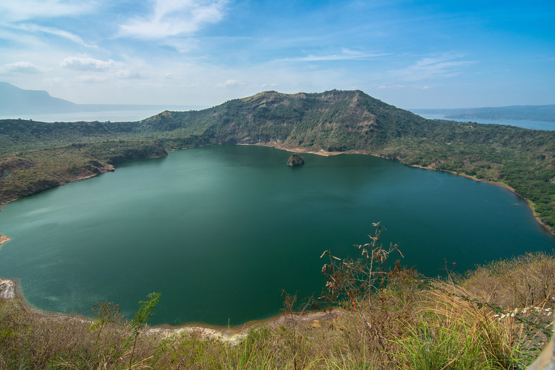 The crater lake of the volcano island in Lake Taal. So, here we have a little island, in a crater lake, on an island, in a crater lake (Lake Taal), on an island (Luzon). All in all, pretty darn cool! March 2014.