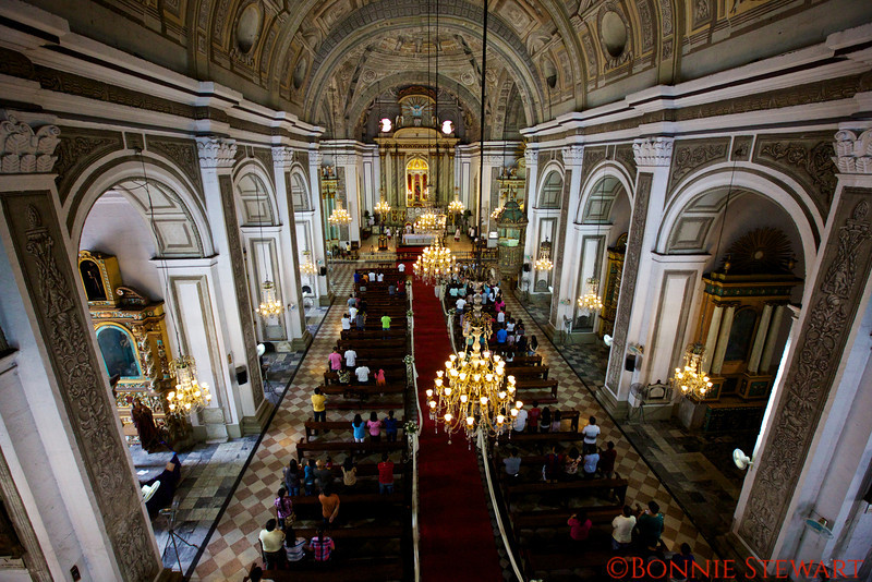 Inside of St. Augustine Church in Manila