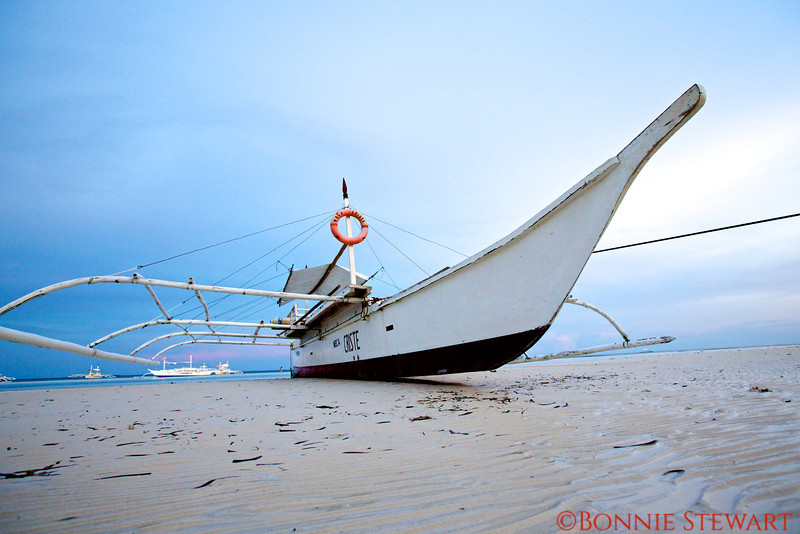 Boat on the beach in Bohol