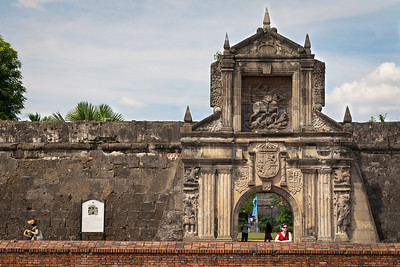 The entrance portal of Fort Santiago in Manila's historical Intra Muros district. This is where the Spanish imprisoned national hero Jose Rizal.