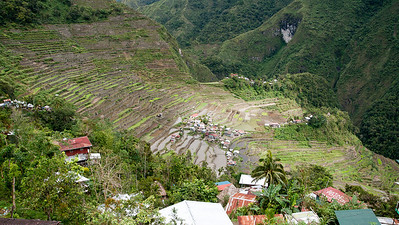 The first look down into Batad village, surrounded by rice terraces!