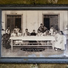 """The """"viri selecti"""", chosen men who had their feet washed by priests on holy thursday of 1956 in Bacalyon. And well, once you reenact the apostles, you might as well take a nice last-supper-like photograph."""