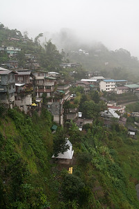 Very early in the morning when we arrived in Banaue after a night bus ride with the coldest aircon ever. It was wet and foggy... not sure if we should go further into the mountains...