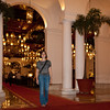 "In the massive lobby of Manila hotel. We didn't really have appropriate clothes for the fancy restaurant there, but they would allow us in anyway. The whole place breathes the glory of the old colonial days (well, then and today it's only glorious for the lucky few of course...).<br /> And, just as Manila's very modern glass-and-steel-skyscraper-and-shopping mall-district ""Makati"" where we had been during the day, this is in absurd contrast to the decay and poverty we've seen in so many other places of the city..."