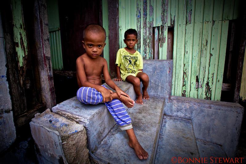Local village children at home, Bohol Island