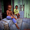 Local village children at home, Bohol Island
