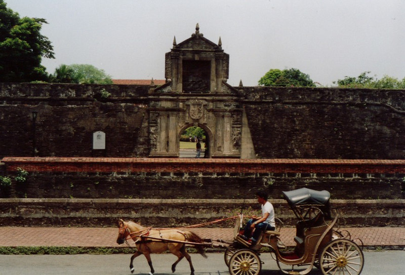 Intramuros, the old colonial area of Manila