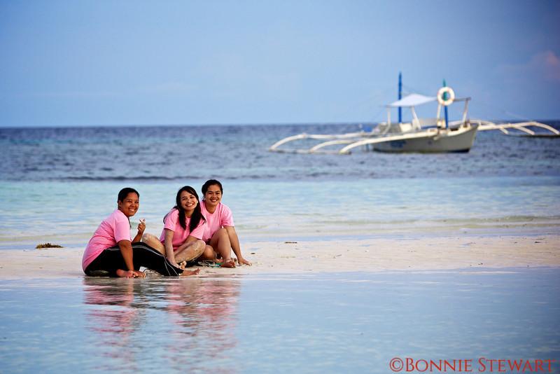 Students enjoying a break on Bohol Island