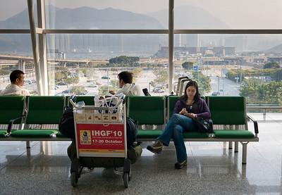 A bit more waiting at Hongkong airport.