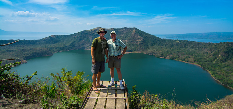 "Thoroughly enjoyed playing ""tourist"" with my new friend from the Vetiver conference, Jason Fox, the cool dude from Hawai'i, at Lake Taal, March 2014."