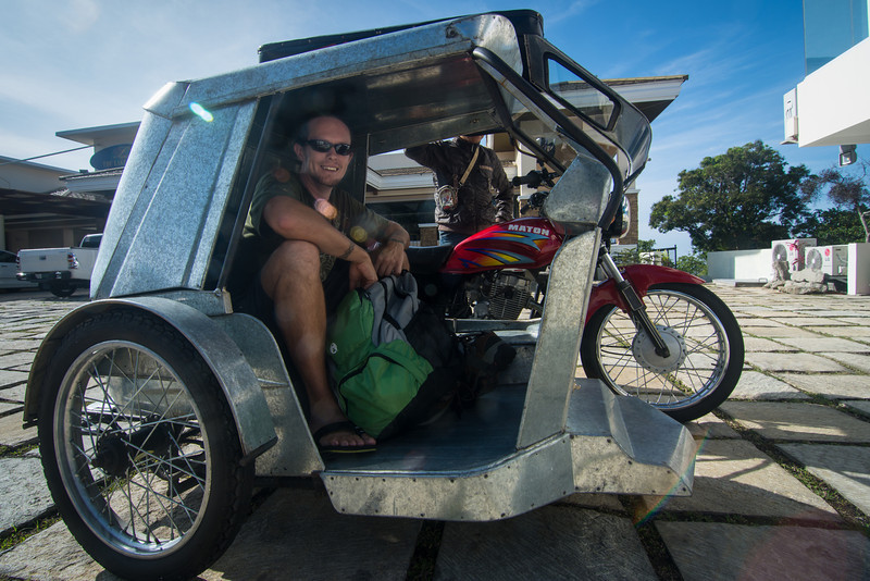 Jason Fox and his awesome wheels, Tagaytay, March 2014.