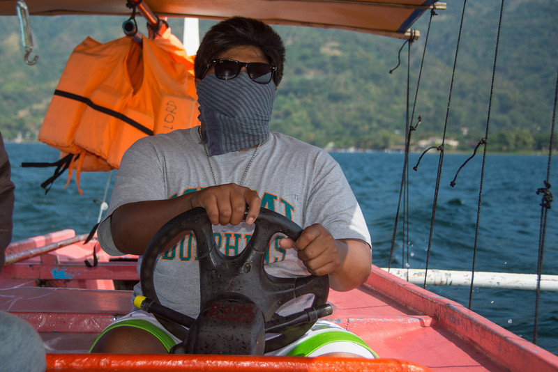 An anymous boat driver on Lake Taal, March 2014.