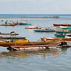 This post-card image was necessary in order to document the boats and some fishermen of Alburquerque, Bohol.