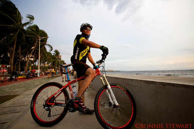 Cyclist in Manila