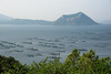 Lake Taal, with tilapia fish farms, March 2014. [Lake Taal 2014-03 027 Philippines]