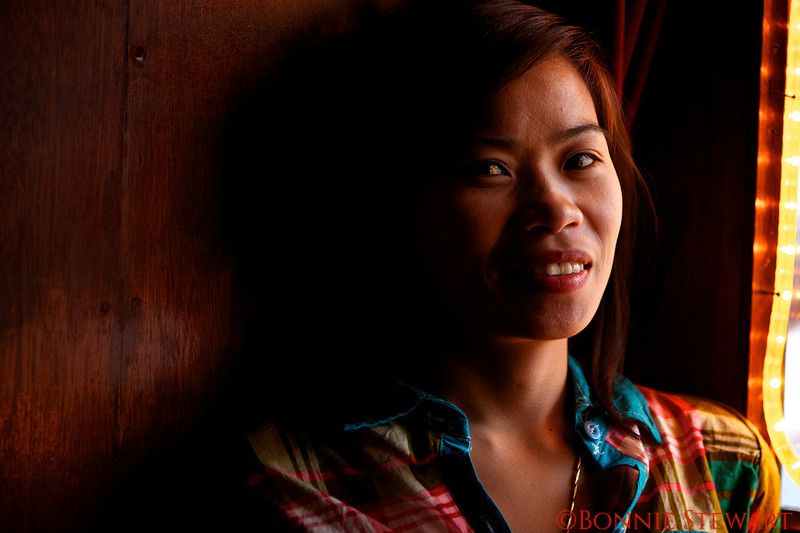 Portrait inside a bar in Manila