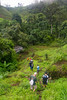 On a hike to another village with Jesuit Father Pedro Walpole of Bendum Village in Bukidnon, Mindanao, Philippines, June 2017. [Bendum 2017-06 028 Bukidnon-Philippines]