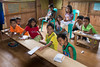 School children in the mountain village of Nabago, Bukidnon Provence, Mindanao, Philippines, June 2017. [Bendum 2017-06 057 Bukidnon-Philippines]