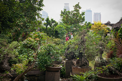 Lovely garden in Intramuros.