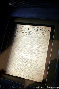 One of the draft versions of the Declaration of Independence
