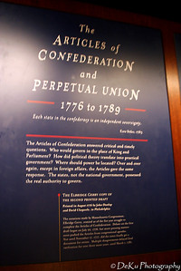 Articles of Confederation information board