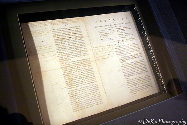 One of the draft versions of the Articles of Confederation