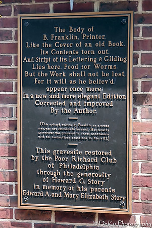 Ben Franklin's Gravesite