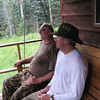 Bill and Bruce hanging out on the porch swing.