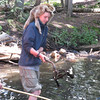 Got him! Seems like a lot of work to catch a beaver.