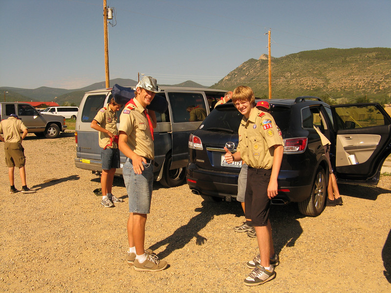 Everyone is excited to finally be at Philmont, now let's get checked in.