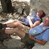 Bill and David take a rest.